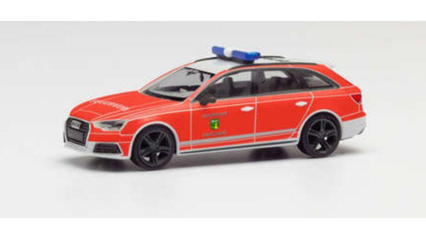 Herpa 095303 Audi A4 Avant Feuerwehr Cadolzburg