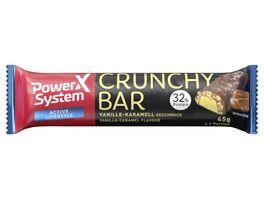 POWER SYSTEM Proteinriegel Crunchy Vanille Karamell