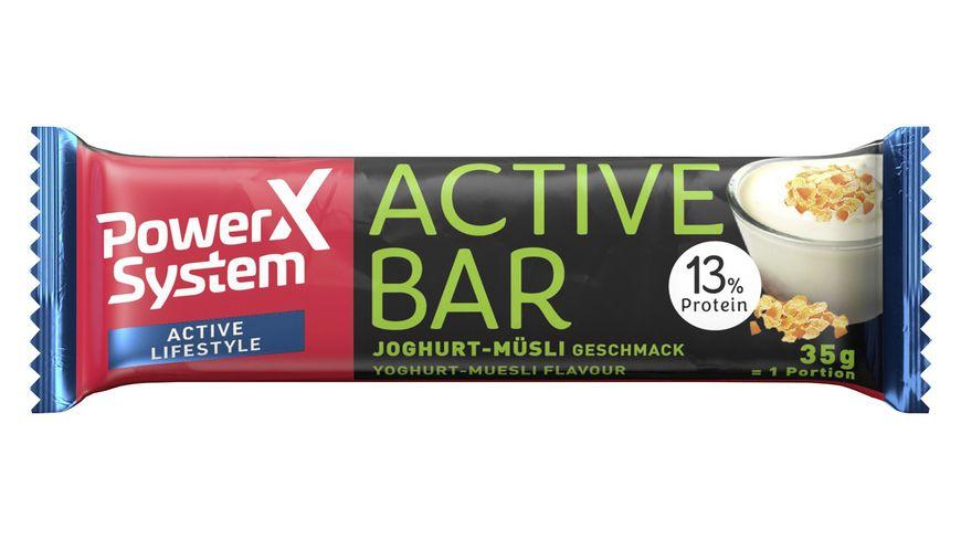 POWER SYSTEM Proteinriegel Active Bar Joghurt-Müsli