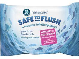 natracare Safe to Flush Feuchtes Toilettenpapier