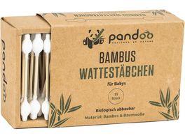 pandoo Bambus Wattestaebchen fuer Babys m Sicherheitskopf