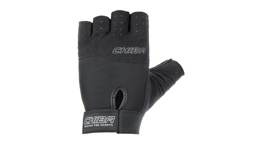 Chiba Fitness Unisex Handschuh Power, schwarz, Größe S