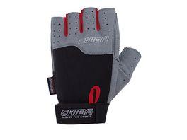 Chiba Fitness Unisex Handschuh Power schwarz hellgrau Groesse S