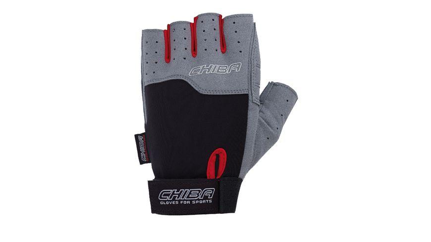 Chiba Fitness Unisex Handschuh Power, schwarz/hellgrau, Größe XL