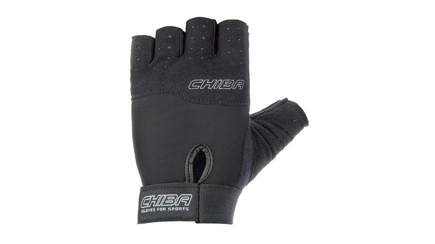 Chiba Fitness Unisex Handschuh Power, schwarz, Größe XL