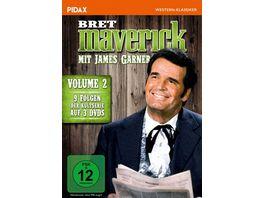Bret Maverick Vol 2 Weitere neun Folgen der legendaeren Westernserie mit James Garner Pidax Western Klassiker 3 DVDs