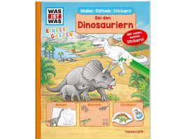 WAS IST WAS Kindergarten Malen Raetseln Stickern Bei den Dinosauriern Malen Raetseln Stickern