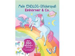 Mein Endlos Stickerspass Einhoerner Co ueber 350 abloesbare Sticker