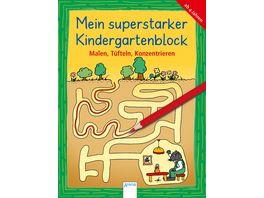 Malen Tuefteln Konzentrieren Mein superstarker KINDERGARTENBLOCK
