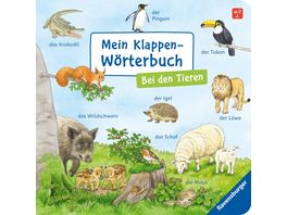 Mein Klappen Woerterbuch Bei den Tieren