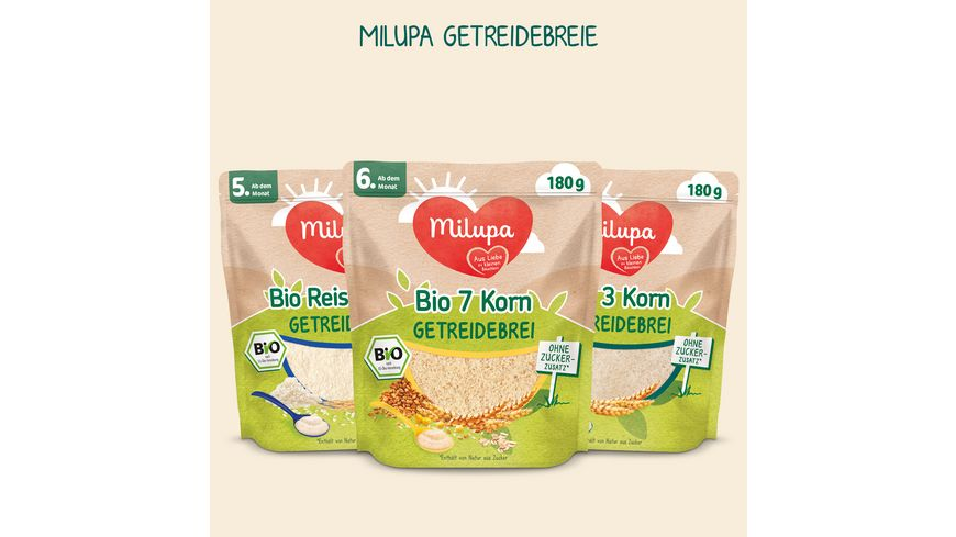 Milupa 7 Korn Bio Getreidebrei ab dem 6 Monat