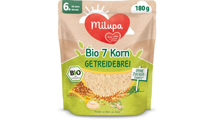 Milupa 7 Korn Bio Getreidebrei ab dem 6. Monat