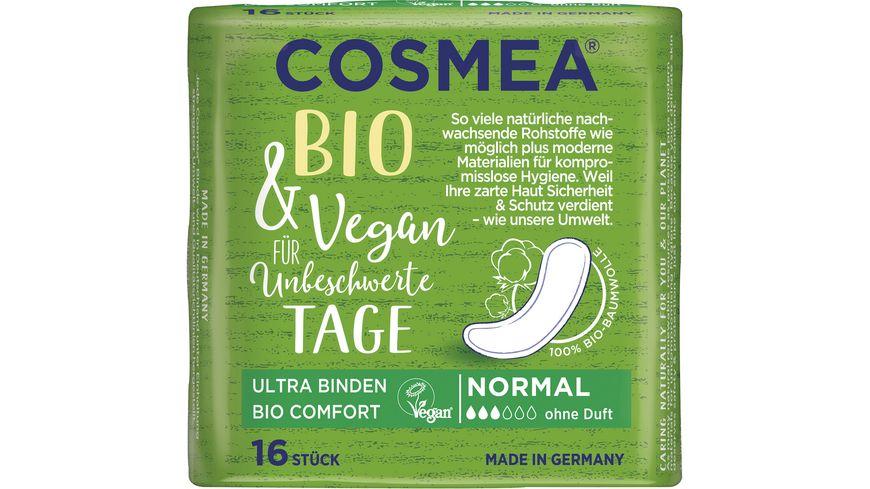 Cosmea® Comfort BIO Ultra Binden, VEGAN, Normal ohne Duft, 16 Stück