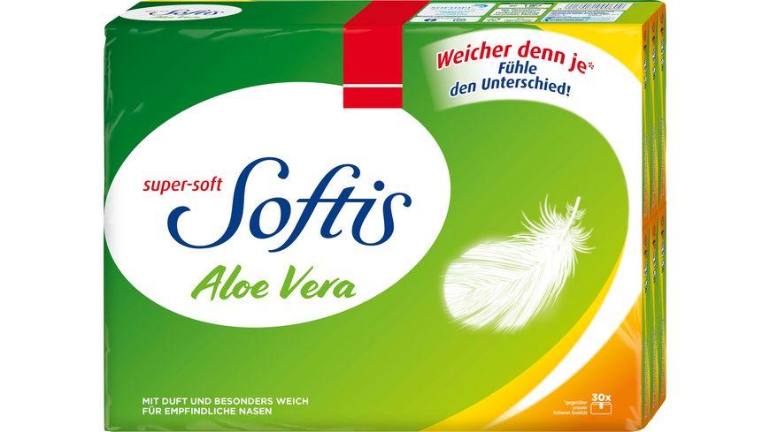 Softis Taschentücher Aloe Vera 30er, 4-lagig
