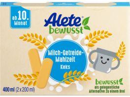 Alete Beikost Milch Getreide Mahlzeit Keks zum Trinken