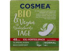 Cosmea BIO Slipeinlagen VEGAN Normal ohne Duft 48 Stueck XXL Vorteilspack