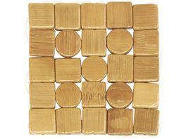 WESTMARK 4 Bambus Untersetzer Mosaik Tapas Friends 10 x 10 cm