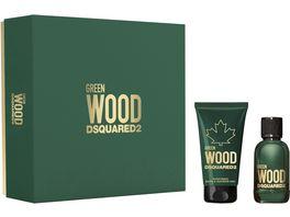 DSQUARED Green Wood Pour Homme Set Eau de Toilette Duschgel