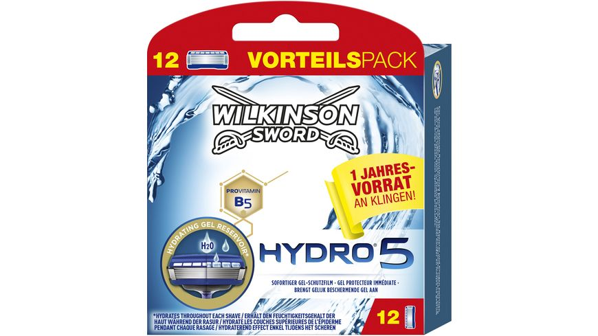 Wilkinson Hydro 5 Rasierklingen Vorteilspack 12 Stueck