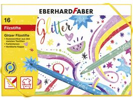 EBERHARD FABER Glitzer Glitzer Pastell Fasermaler 16er Etui