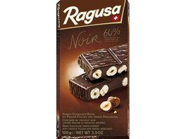Ragusa Noir 60 dunkle Schokolade mit ganzen Haselnuessen