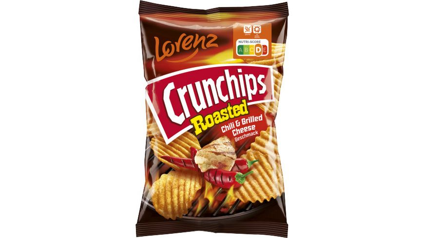 CRUNCHIPS ROASTED CHILI+GRILLED CHEESE 150G/10