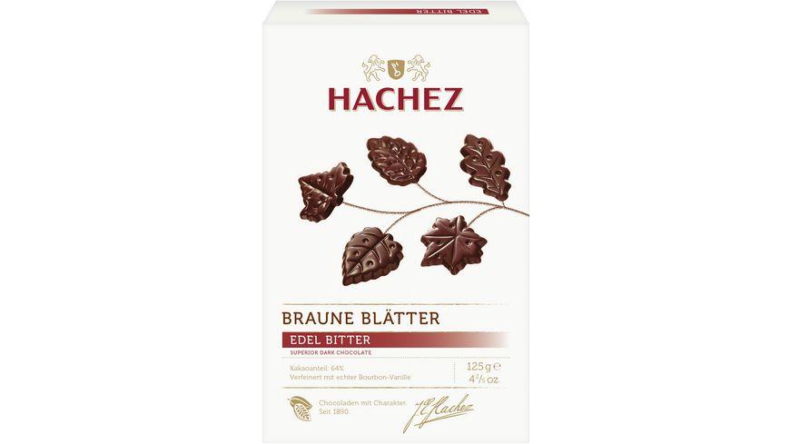 Hachez Braune Blätter Edelbitter Chocolade