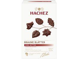 Hachez Braune Blaetter Edelbitter Chocolade
