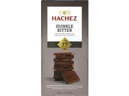 Hachez Tafel Dunkle Bitter 77 Kakaoanteil