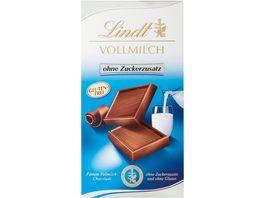 Lindt Schokolade Vollmilch ohne Zuckerzusatz