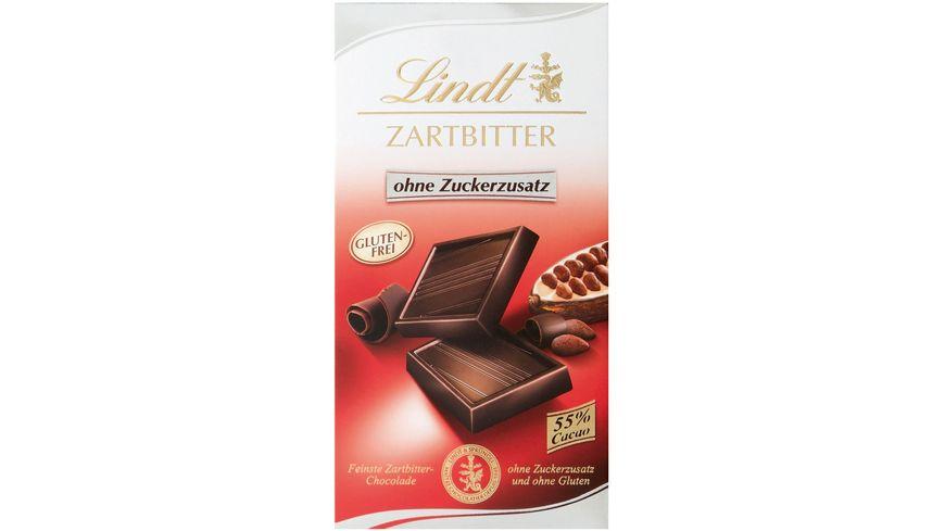 Lindt Schokolade Zartbitter ohne Zuckerzusatz