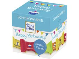 Ritter Sport Schokowuerfel Happy Birthday