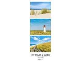 Alpha Edition Streifenkalender XXL Strand Meer Triplets 2021 25x69cm