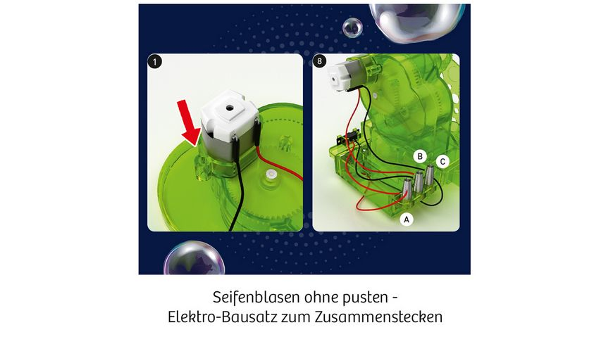 KOSMOS Experimentierkaesten Fun Science Seifenblasen Roboter