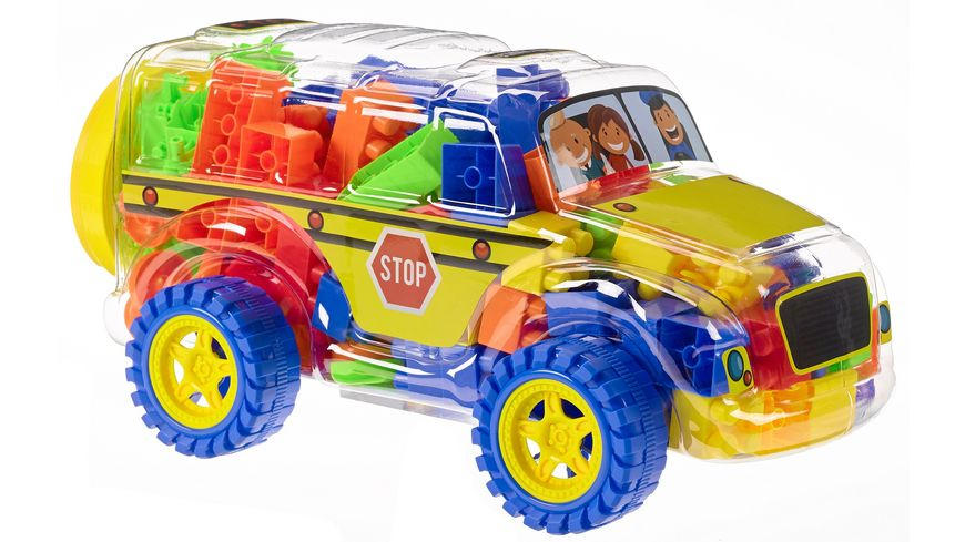 Müller - Toy Place - Block Truck School Bus