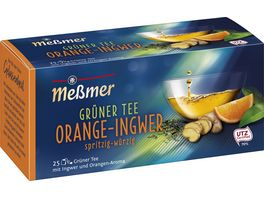 Messmer Gruener Tee Orange Ingwer