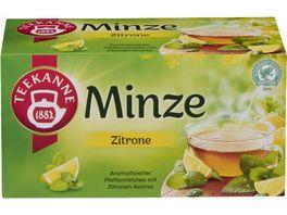 Teekanne Minze Zitrone mit Zitronenaroma Tee