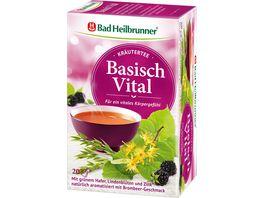 Basisch Vital Kraeutertee mit gruenem Hafer und Lindenblueten natuerlich aromatisiert mit Brombeer Geschmack
