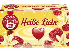Teekanne Heisse Liebe aromatisierter Fruechtetee mit Himbeer und Vanillearoma