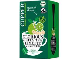 CUPPER Bio Gruener Tee mit Limette und Ingwer
