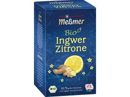 Messmer Bio Tee Ingwer Zitrone