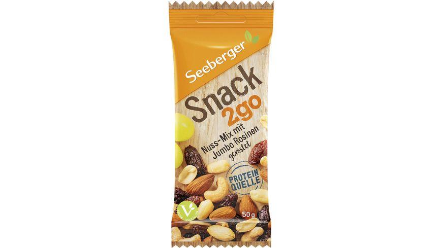 Seeberger Snack2go Nuss-Mix mit Jumbo-Rosinen