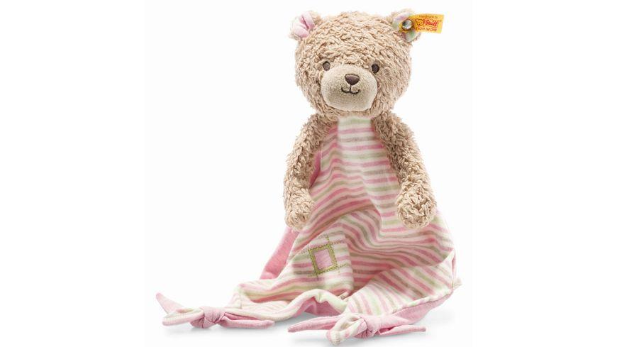 Steiff - GOTS Rosy Teddybär Schmusetuch, 28 cm