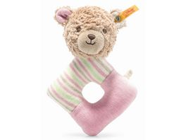 Steiff GOTS Rosy Teddybaer Greifring mit Rassel 15 cm