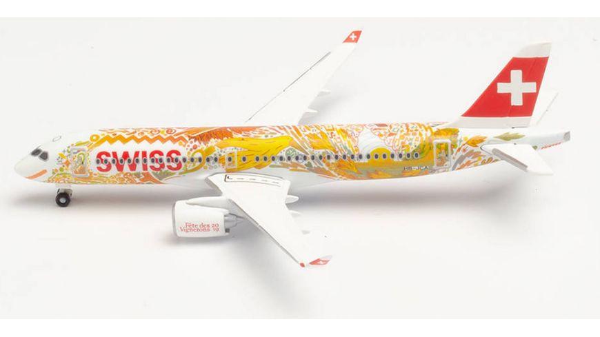 Herpa 533584 Swiss International Air Lines Airbus A220 300 Fete des Vignerons