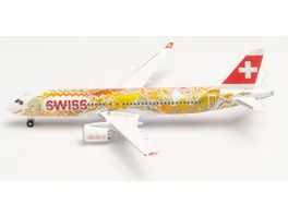 Herpa 533584 Swiss International Air Lines Airbus A220 300 Fete des Vignerons