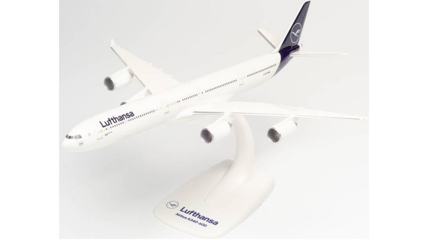 Herpa 612616 Snap Fit Lufthansa Airbus A340 600 Luebeck