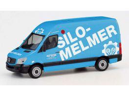 Herpa 095419 Mercedes Benz Sprinter 13 Kasten HD Silo Melmer