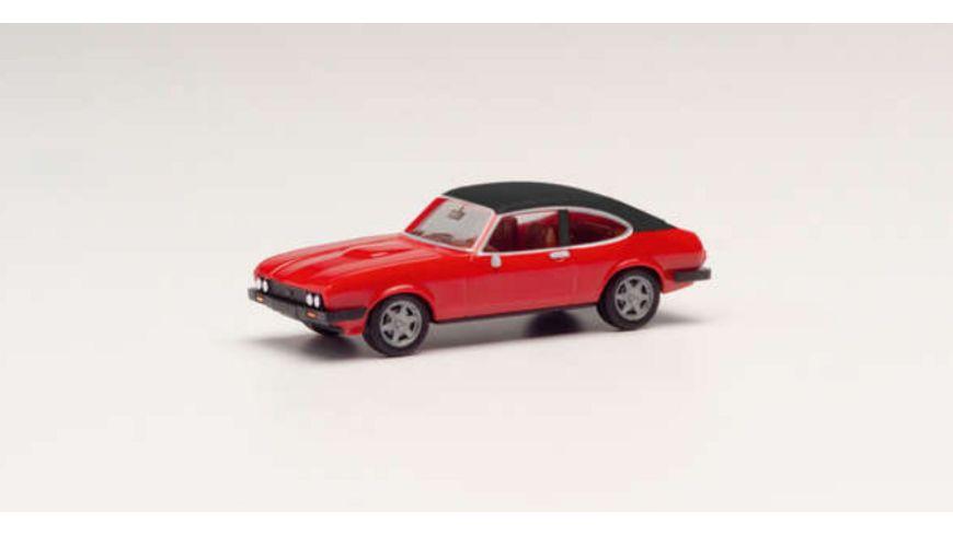 Herpa 420570 - Ford Capri II mit Vinyldach, rot