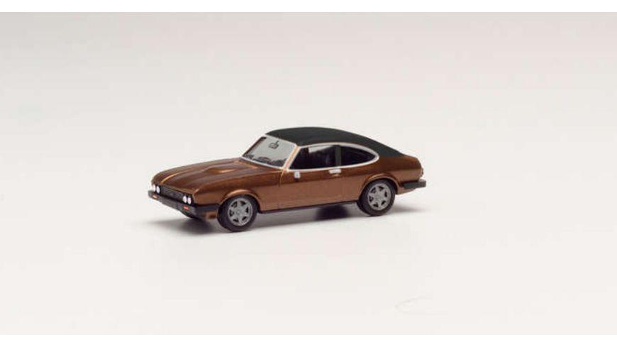 Herpa 430807 Ford Capri II mit Vinyldach braunmetallic